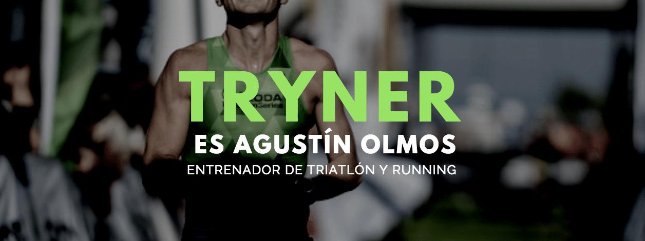 Tryner es Agustín Olmos entrenador de triatlón y running